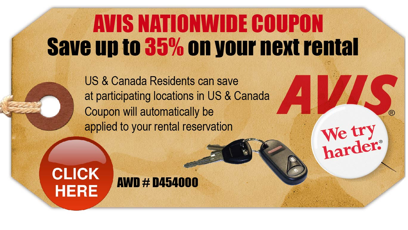 Suv rental coupons